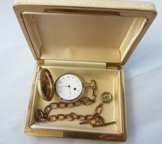 1808 William Linsley London - retailed by Edward French Gilt Silver full hunter pocket watch