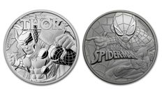 Australia - 2 x 1 AUD - Tuvalu - Marvel Spiderman 2017 + Thor 2018 - First and second edition - 999 silver
