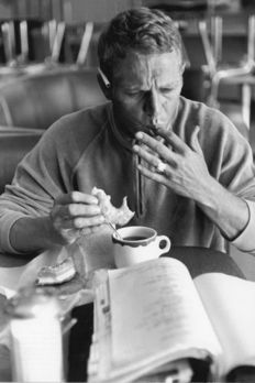 "William Claxton (1927-2008) - ""Steve McQueen eating a donut"", 1961"