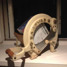 RAADVAD -   Bread Slicer no. 294 ,White & Gold - Great Condition.