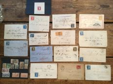 Greece - Set of letters with Hermes heads, Hermes trial and some classic stamps