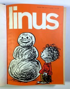 Linus - a year's issues, from no. 1 to no. 12, in 2 bound volumes - 1966