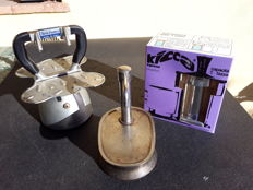 Three vintage coffee pots - pretty much the history of coffee in Italy - 1960s/70s