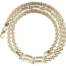 14 kt - Yellow gold Rolex link necklace - length: 44.5 cm