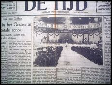 Newspapers WW II - De Tijd - Lot with 190 issues - 1942-1943