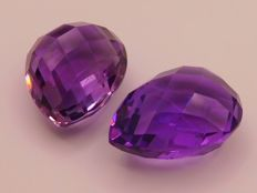 Amethyst Matching Pair – 37.44 ct total