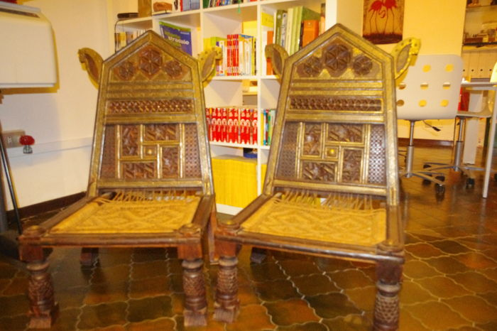 Genial Two Indian Chairs   India   Second Half Of 20th Century