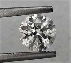 Round Brilliant Cut  - 1.05 carat - E color - SI1 clarity- Comes With AIG Certificate + Laser Inscription On Girdle- 3 x EX.