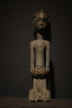 A male Kuba Dengese figure - Democratic Republic of the Congo