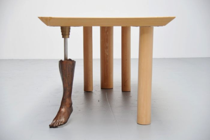 Rob Thalen Exclusive Dining Table With Bronze Foot