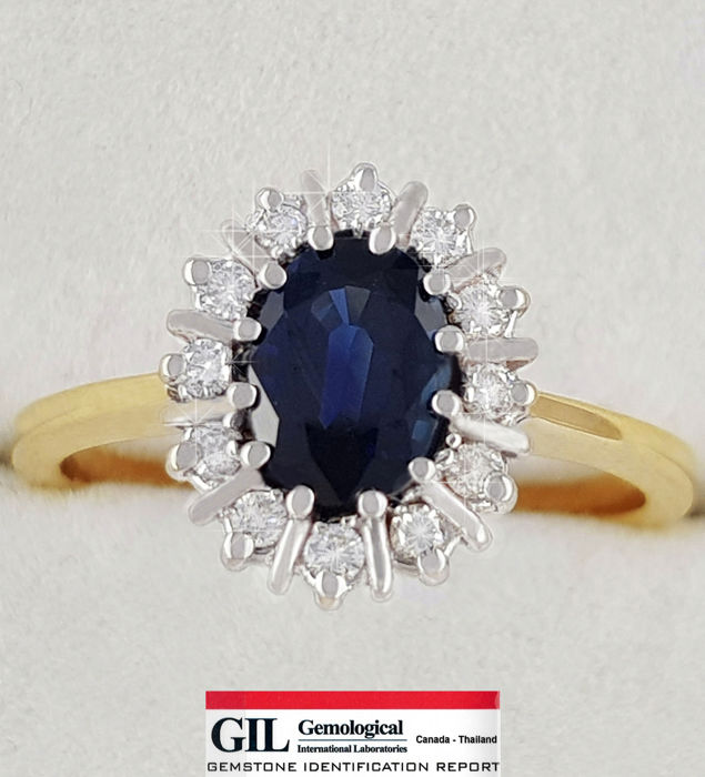 Certified: Luxurious Sapphire & Diamond Ring -**No reserve price**!