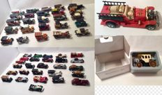 Various - Scale 1/43-1/66- Lot with 53 models: Ford, Packard, Rolls-Royce, Auburn, Citroen, Bugatti, Simplex, Vauxhall, Opel & Fiat and others