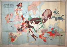 Europe; John Henry Amschewitz - European Revue. Kill That Eagle - 1914