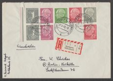 Federal Republic of Germany 1960 - Heuss and Ziffern on letter with befund