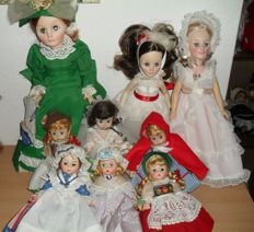 Lot of 9 dolls (Madame Alexander & Effanbee) Vintage