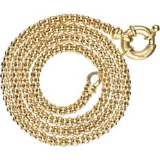 14 kt - Yellow gold popcorn link necklace - length: 44 cm