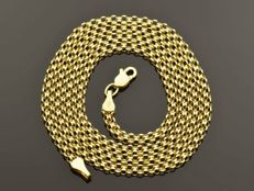 "18k Gold Necklace. Chain ""Bismarck"" - 50 cm. Weight 3.25 g. No reserve price."