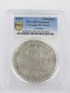 Southern Netherlands - Patagon 1653 Flanders - silver