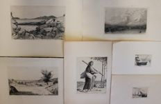 Étienne Mein (1865-1938) - set of 6 various engravings - circa 1900