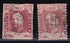 Dutch East Indies 1864/1868 - King Willem III - NVPH 1 and 2