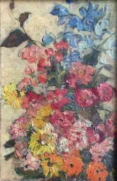 Maria Catharina Jorissen-Cox - Attributed to - (1872-1965) - Impressionist still life with flowers and branches