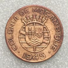 Mozambique – Portugal Republic – 1 Escudo – 1945 – Bronze