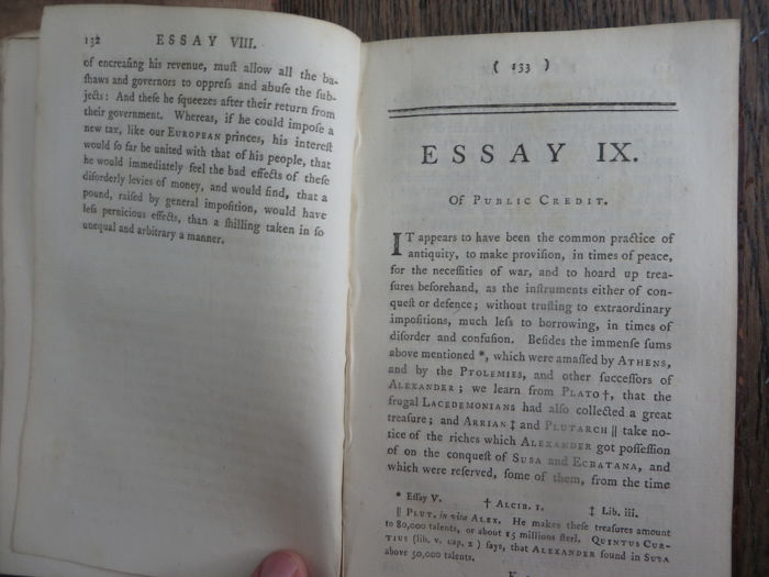 David hume essays and treatises