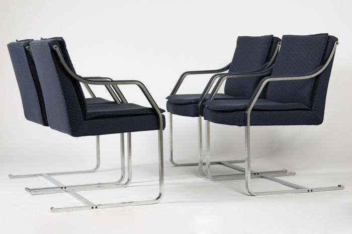 Walter Knoll - Set van 4 stoelen model 'Alpha' uit de Art Collection