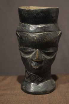 Historic Kuba Head Anthropomorphic Cup, Democratic Republic of the Congo