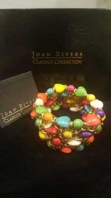 Joan Rivers - 18kt gold plated Turquoise Barecelt