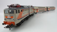 Lima H0 - 149804 - 3-piece Train set with electric locomotive E646 and 2 double-deck carriages, with control car of the FS