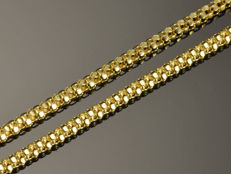 "18K Gold Necklace. Chain ""Popcorn"" - 43.5 cm"