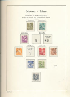 Switzerland 1922/1950 - Collection of official stamps and international organisations SDN and BIT
