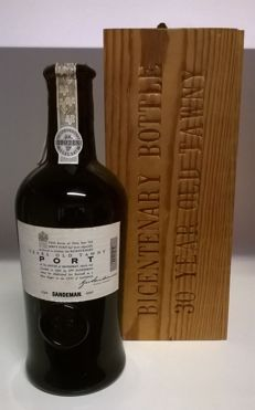 "30 Years Old Tawny Port - Sandeman ""Bicentenary Edition"" (1790-1990) in mouth-blown glass bottle with OWC"