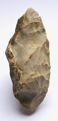 Neolithic axe / scraper from France - 131 x 56 mm
