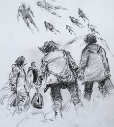 Follet, René - Published original drawing - Bob Morane - Les Anges d'Annanké