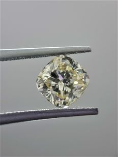 1.74ct Cushion Cut Diamond Fancy Light Yellow SI1