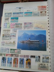 World - Batch with various countries, with a lot of topical material on aviation and shipping