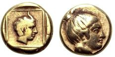 Greek antiquity - Lesbos, Mytilene EL Hekte. Circa 375-326 BC - very well centered