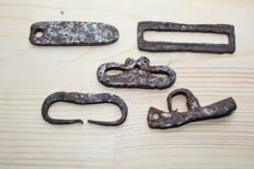 Medieval iron fire lighters-  60-79 mm (5)