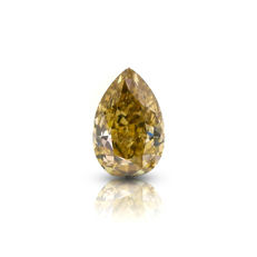 1.84 Ct. Natural Fancy Brown Yellow Pear Shape VS1 Diamond.