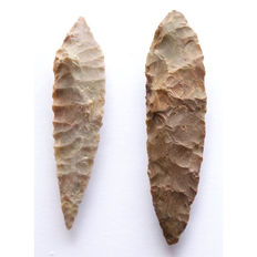 2 large arrowheads from Niger 90 and 84 mm