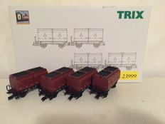 Trix H0 - 23999 - 4-part coal transporter set of the DB