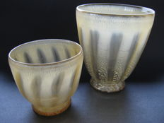 "A.D. Copier, Leerdam - vases ""Sonoor"" (set of two)"