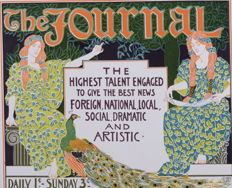 Louis Rhead - 'The Journal' original small lithograph poster from the 'Les Affiches Etrangères Illustrées' series