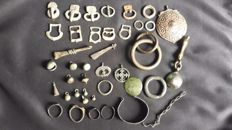 Big Lot of Ancient and Medieval Bronzes, 1,2  x 7,5 cm (40 pcs.)