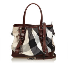 Burberry - Plaid Canvas Shoulder Bag