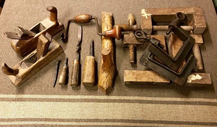 Antique carpenter's tools