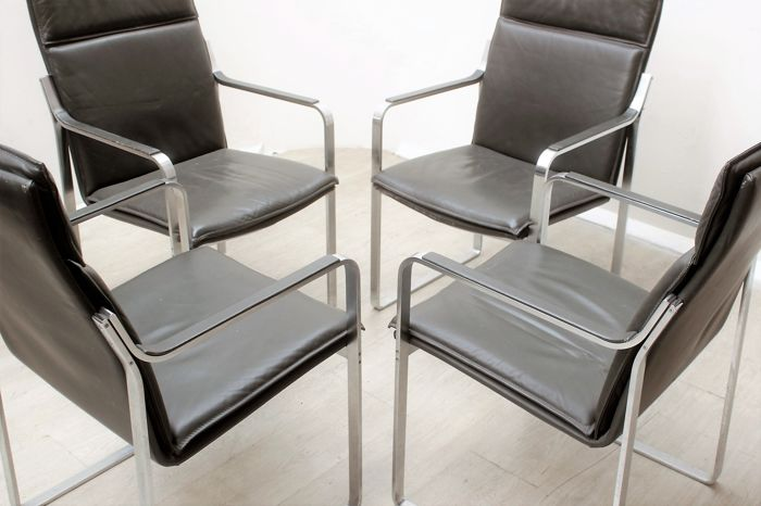 Walter knoll set of 4 art collection chairs catawiki