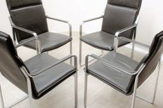 Walter Knoll - set of 4 'Art Collection' chairs